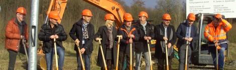 Spatenstich der Firma AWS-Fertigungstechnik GmbH